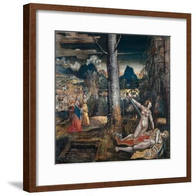Pyramus and Thisbe, c.1513-14-Niklaus Manuel Deutsch-Framed Giclee Print