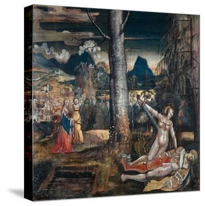 Pyramus and Thisbe, c.1513-14-Niklaus Manuel Deutsch-Stretched Canvas Print