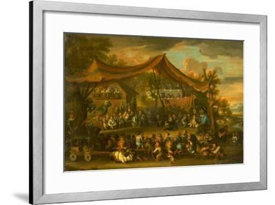 A Trial at Law Among Animals and Pygmies, Unknown-Faustino Bocchi or Boccasi-Framed Giclee Print