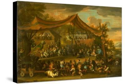 A Trial at Law Among Animals and Pygmies, Unknown-Faustino Bocchi or Boccasi-Stretched Canvas Print