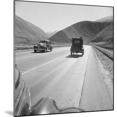 Migrants driving on Highway 99, 1939-Dorothea Lange-Mounted Photographic Print