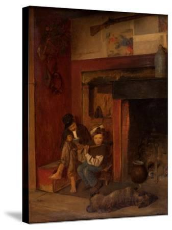The Fifer and His Friend, 1870-80-Eastman Johnson-Stretched Canvas Print