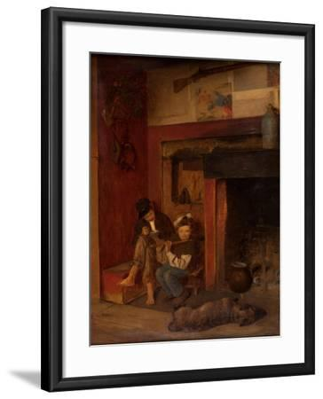 The Fifer and His Friend, 1870-80-Eastman Johnson-Framed Giclee Print