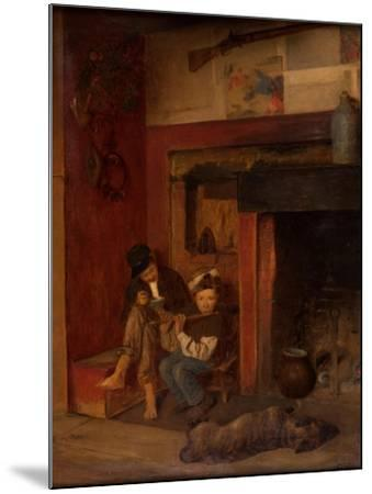 The Fifer and His Friend, 1870-80-Eastman Johnson-Mounted Giclee Print