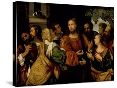 Christ and the Women of Canaan, c.1520-Rocco Marconi-Stretched Canvas Print