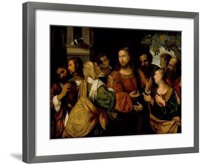 Christ and the Women of Canaan, c.1520-Rocco Marconi-Framed Giclee Print