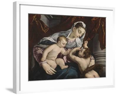 Virgin and Child with the Young Saint John the Baptist, 1560/65-Jacopo Bassano-Framed Giclee Print