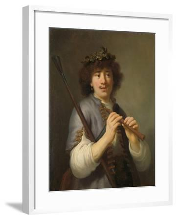 Rembrandt as Shepherd with Staff and Flute, 1636-Govaert Flinck-Framed Giclee Print