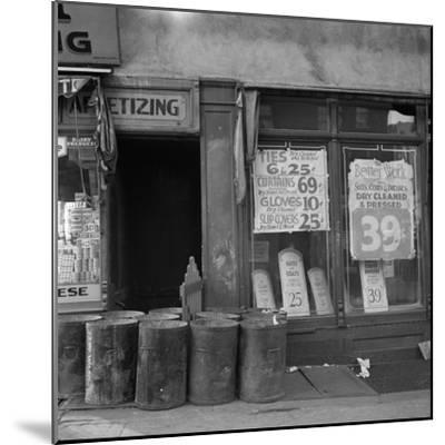 Shop in Washington Avenue, Bronx, New York, 1936-Arthur Rothstein-Mounted Photographic Print
