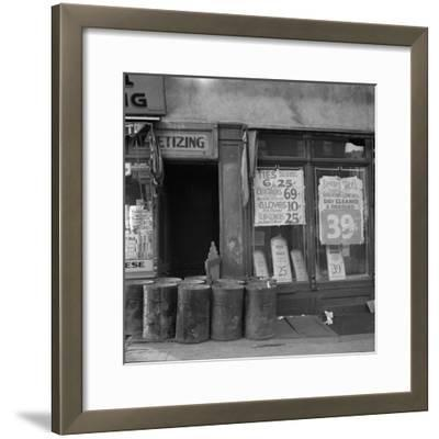 Shop in Washington Avenue, Bronx, New York, 1936-Arthur Rothstein-Framed Photographic Print