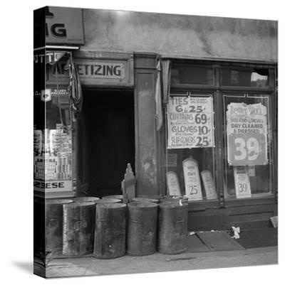 Shop in Washington Avenue, Bronx, New York, 1936-Arthur Rothstein-Stretched Canvas Print