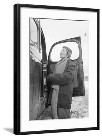 Relocation good-byes  Manzanar Relocation Center, 1943-Ansel Adams-Framed Photographic Print