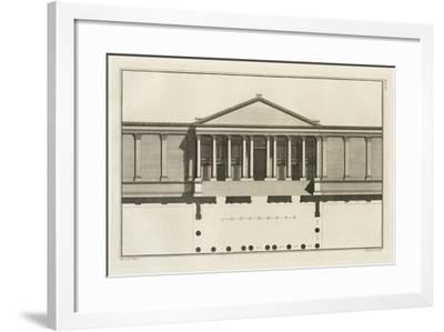 Upright of the Grand Entrance to the Court of the Temple, 1753-Giovanni Battista Borra-Framed Giclee Print