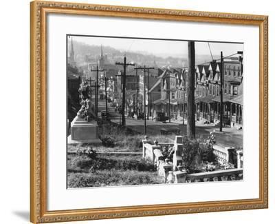 A street in Bethlehem, Pennsylvania, 1935-Walker Evans-Framed Photographic Print