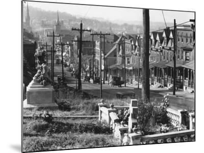 A street in Bethlehem, Pennsylvania, 1935-Walker Evans-Mounted Photographic Print