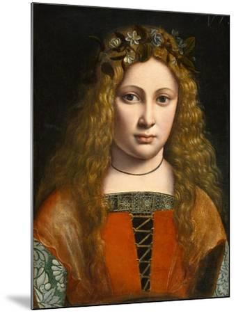 Portrait of a Young Girl Crowned with Flowers, c.1490-Giovanni Antonio Boltraffio-Mounted Giclee Print