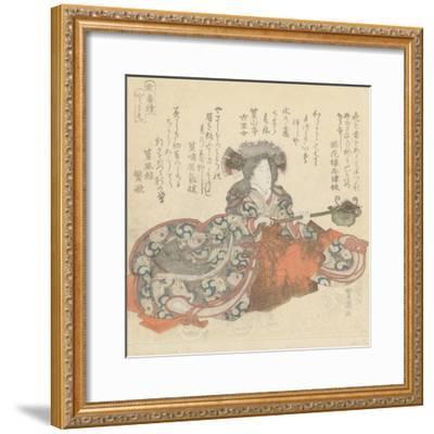 Segawa Kikunojô as Tomoe Gozen, c.1825-29-Utagawa Toyokuni-Framed Giclee Print