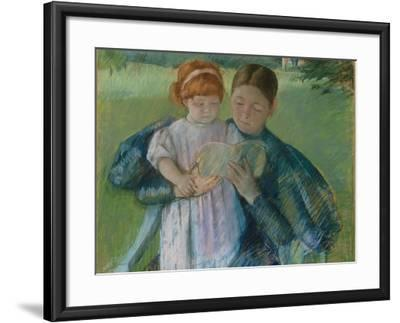 Nurse Reading to a Little Girl, 1895-Mary Stevenson Cassatt-Framed Giclee Print