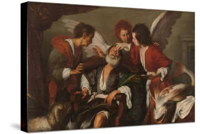 Tobias Curing His Father's Blindness, 1630-35-Bernardo Strozzi-Stretched Canvas Print