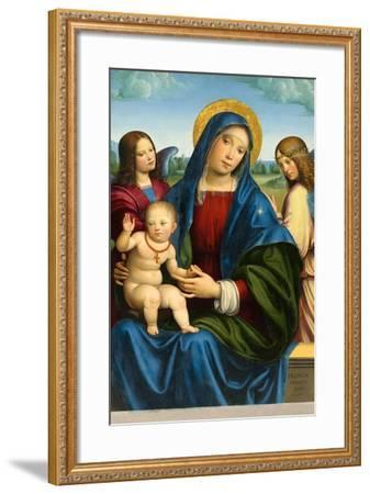 Madonna and Child with Two Angels, c.1495-1500-Il Francia-Framed Giclee Print
