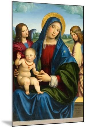 Madonna and Child with Two Angels, c.1495-1500-Il Francia-Mounted Giclee Print