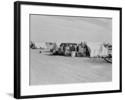 Squatter camp on county road California, 1937-Dorothea Lange-Framed Photographic Print