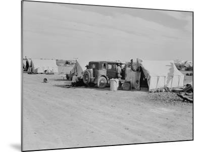 Squatter camp on county road California, 1937-Dorothea Lange-Mounted Photographic Print