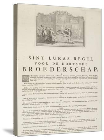 Rules of the Guild of Saint Luke in Dordrecht, 1736-Aert Schouman-Stretched Canvas Print
