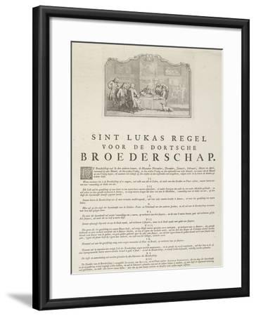 Rules of the Guild of Saint Luke in Dordrecht, 1736-Aert Schouman-Framed Giclee Print