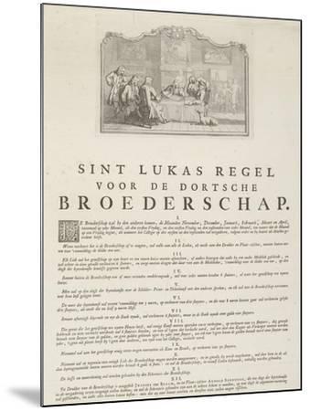 Rules of the Guild of Saint Luke in Dordrecht, 1736-Aert Schouman-Mounted Giclee Print