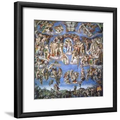 The Last Judgment, c.1540-Michelangelo Buonarroti-Framed Giclee Print