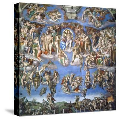 The Last Judgment, c.1540-Michelangelo Buonarroti-Stretched Canvas Print