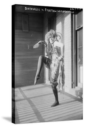 Baroness Von Freytag-Loringhoven, c.1915--Stretched Canvas Print