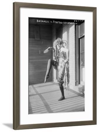Baroness Von Freytag-Loringhoven, c.1915--Framed Photographic Print