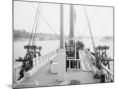 Steamer Clermont, deck, looking aft, 1909-Detroit Publishing Co.-Mounted Photographic Print