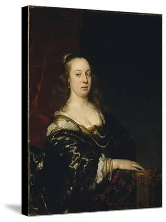 Portrait of a Woman, c.1647-Jacob Adriensz Backer-Stretched Canvas Print