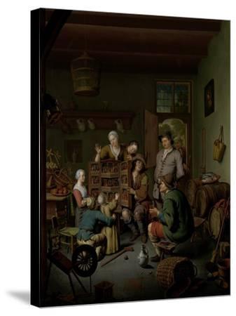 The Raree-show , 1718-Willem Van Mieris-Stretched Canvas Print
