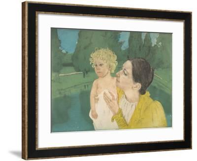 By the Pond, c.1896-Mary Stevenson Cassatt-Framed Giclee Print