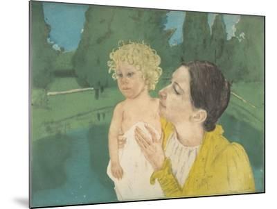 By the Pond, c.1896-Mary Stevenson Cassatt-Mounted Giclee Print
