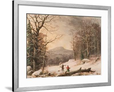 Gathering Wood, 1859-George Henry Durrie-Framed Giclee Print