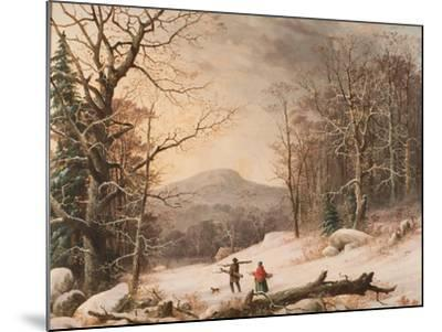 Gathering Wood, 1859-George Henry Durrie-Mounted Giclee Print