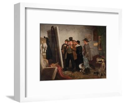 Country Connoisseurs, 1855-Johannes Adam Simon Oertel-Framed Giclee Print