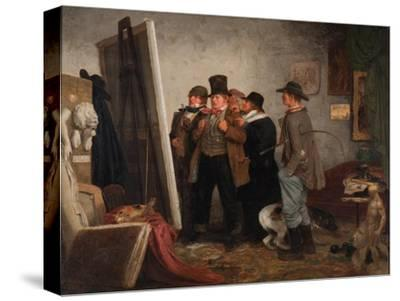 Country Connoisseurs, 1855-Johannes Adam Simon Oertel-Stretched Canvas Print