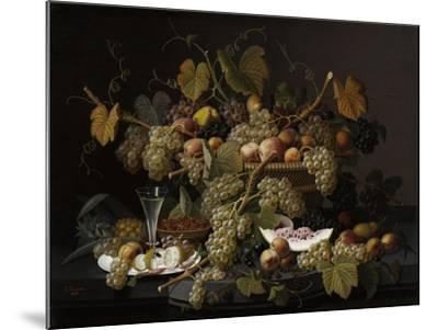 Ecstatic Fruit, 1852-Severin Roesen-Mounted Giclee Print