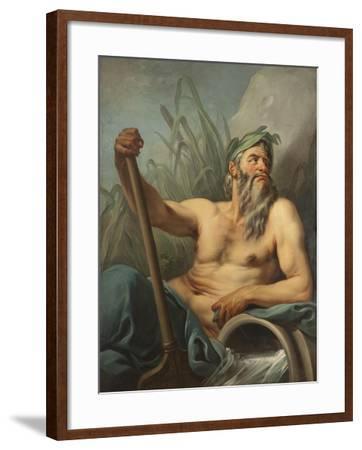 River God, c.1735-65-Carle van Loo-Framed Giclee Print