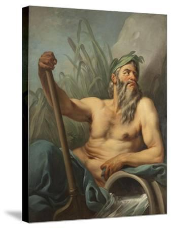 River God, c.1735-65-Carle van Loo-Stretched Canvas Print