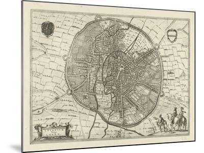 Plan of Leuven, 1581-Jan Luyken-Mounted Giclee Print