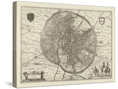 Plan of Leuven, 1581-Jan Luyken-Stretched Canvas Print