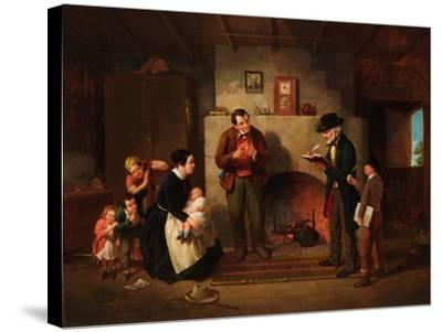 Taking the Census, 1854-Francis William Edmonds-Stretched Canvas Print