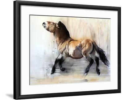 Ancient Horse (Przewalski in winter), 2014-Mark Adlington-Framed Giclee Print